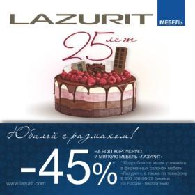 Компании «Лазурит» 25 лет!